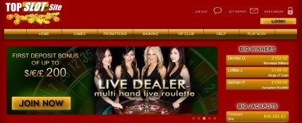 TopSlotSite Live Dealer Games