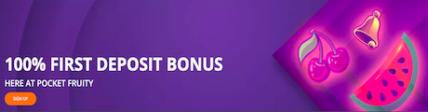 deposit match signup bonus