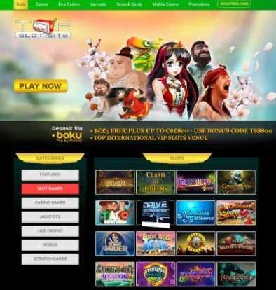 Top Slots Mobile Site £800 Deals